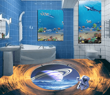 3D Planet 052 Floor Mural Wallpaper AJ Wallpaper 2
