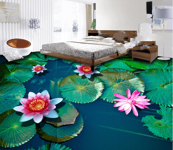3D Small Lotuss 194 Floor Mural Wallpaper AJ Wallpaper 2