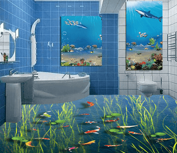 3D Seaweed 021 Floor Mural Wallpaper AJ Wallpaper 2