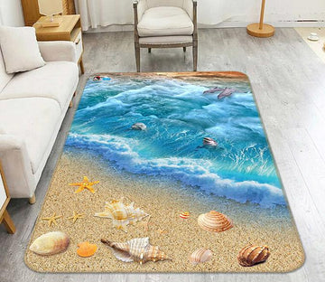 3D Beach Shell 015 Non Slip Rug Mat Mat AJ Creativity Home