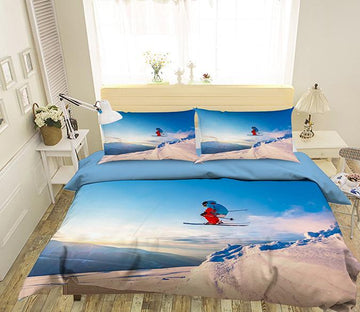 3D Sky Skiing 064 Bed Pillowcases Quilt Wallpaper AJ Wallpaper