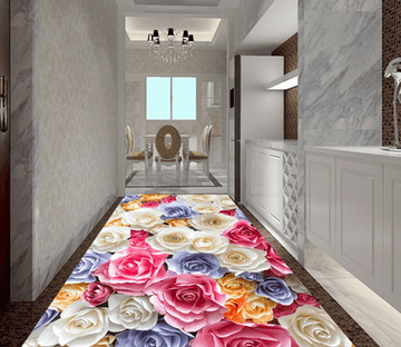 3D Blooming Flowers 087 Floor Mural Wallpaper AJ Wallpaper 2