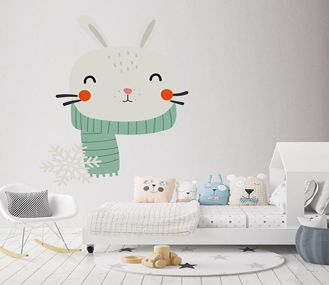 3D Cartoon Rabbit Head 114 Wall Stickers Wallpaper AJ Wallpaper