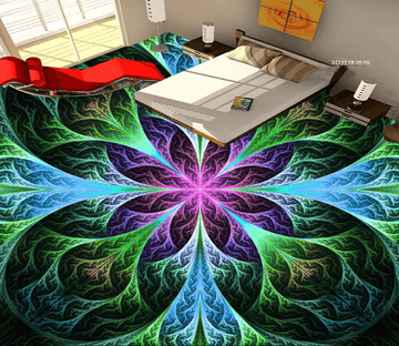 3D Cool Flowers 032 Floor Mural Wallpaper AJ Wallpaper 2