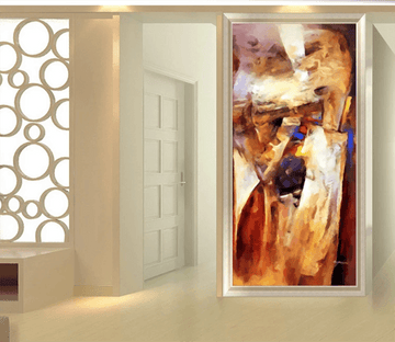 3D Oil painting Abstract Hand Drawn 1641 Wallpaper AJ Wallpaper