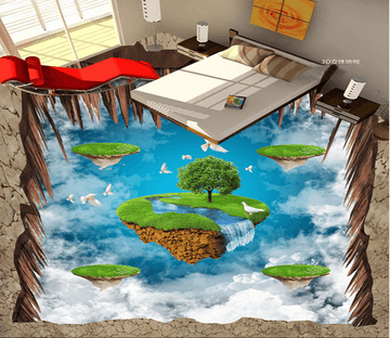 3D Sky Island 022 Floor Mural Wallpaper AJ Wallpaper 2