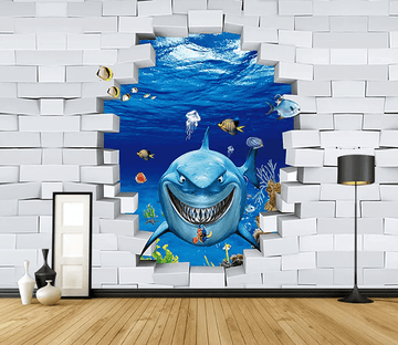 3D Smiling Shark 1340 Wallpaper AJ Wallpaper 2