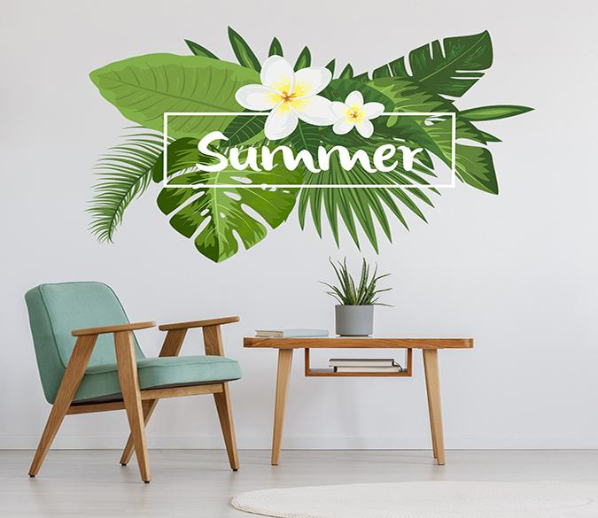 3D Big Leaf Flower 020 Wall Stickers Wallpaper AJ Wallpaper