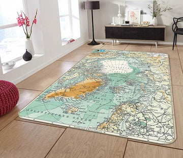 3D Map Equator 002 Non Slip Rug Mat Mat AJ Creativity Home