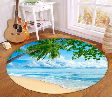 3D Cloud Beach 363 Round Non Slip Rug Mat Mat AJ Creativity Home