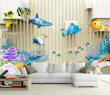 3D Cute Fish 294 Wallpaper AJ Wallpaper