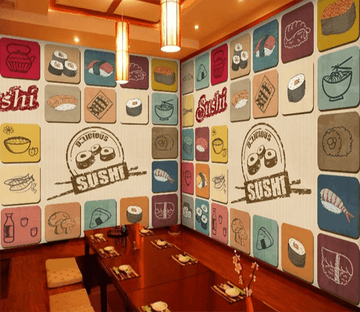 3D Sushi Menu 901 Wallpaper AJ Wallpaper 2