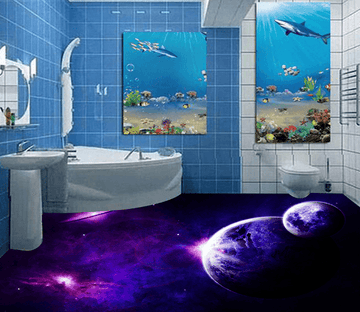 3D Interstellar 046 Floor Mural Wallpaper AJ Wallpaper 2