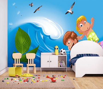 3D Surfing Child 798 Wallpaper AJ Wallpaper 2