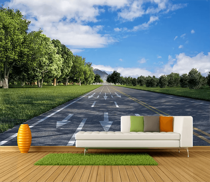 3D Highway Garden 1554 Wallpaper AJ Wallpaper 2