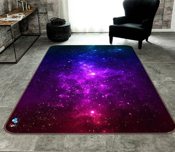 3D Purple Starry Sky 669 Non Slip Rug Mat Mat AJ Creativity Home