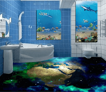 3D Earth 044 Floor Mural Wallpaper AJ Wallpaper 2