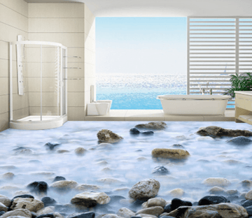 3D Fog Stone 349 Floor Mural Wallpaper AJ Wallpaper 2