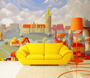 3D Cartoon Town 1203 Wallpaper AJ Wallpaper 2