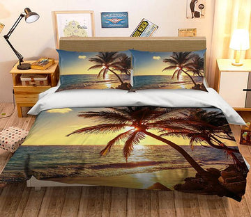 3D Sunset Coco 105 Bed Pillowcases Quilt Wallpaper AJ Wallpaper