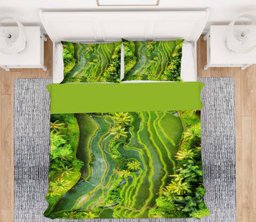 2x Queen size bedding orders 1) 3D Green Earth 15171 = Green backing 2) 3D water wave 206 = Blue backing