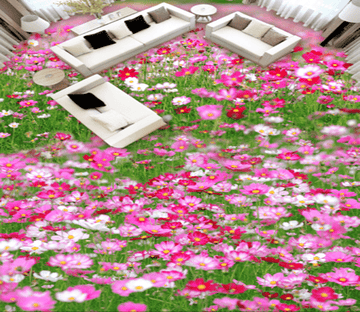 3D Flower Everywhere 007 Floor Mural Wallpaper AJ Wallpaper 2