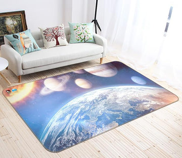 3D Earth Turn 219 Non Slip Rug Mat Mat AJ Creativity Home