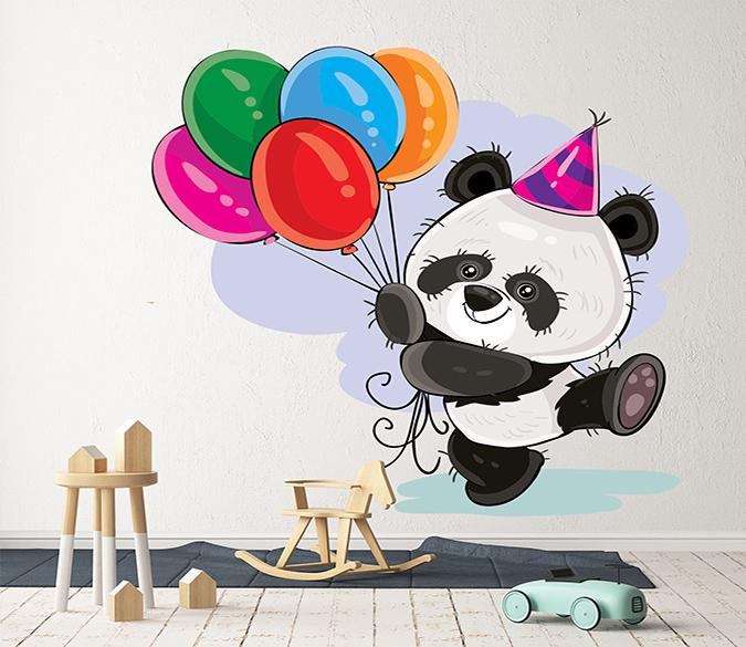 3D Cute Panda Balloon 221 Wall Stickers Wallpaper AJ Wallpaper