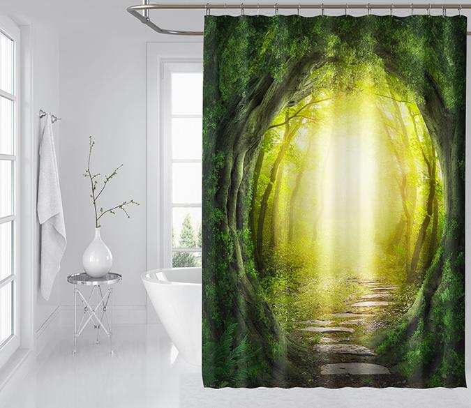 3D Tree Cave Arch 131 Shower Curtain 3D Shower Curtain AJ Creativity Home