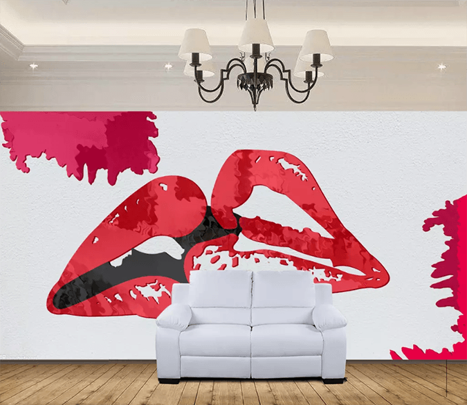 3D Red Lips Kiss 1571 Wallpaper AJ Wallpaper 2