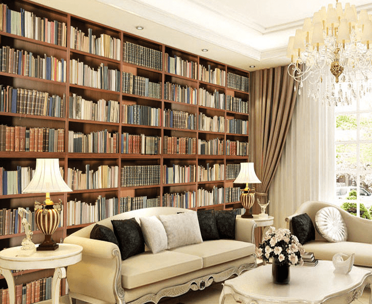Large Bookcase Wallpaper AJ Wallpaper
