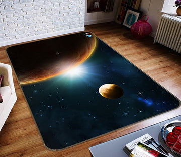 3D Saturn Shining 279 Non Slip Rug Mat Mat AJ Creativity Home