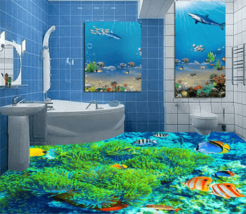 3D Loitering 040 Floor Mural Wallpaper AJ Wallpaper 2