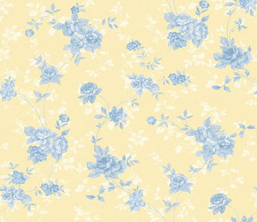 3D Blue Flowers 301 Wallpaper AJ Wallpaper