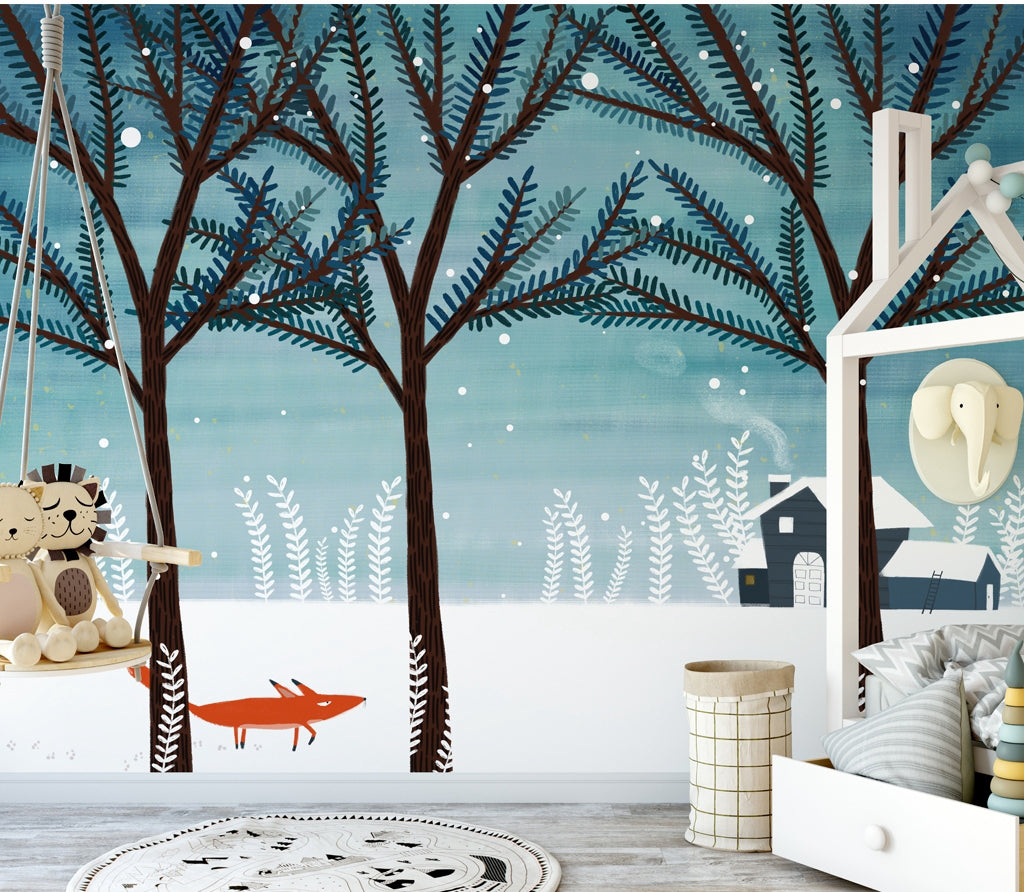 3D Snow Forest WC028 Wall Murals