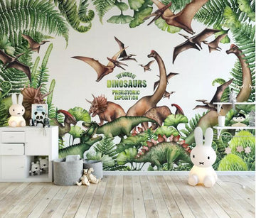 3D Pink Flamingo 1398 Wall Murals