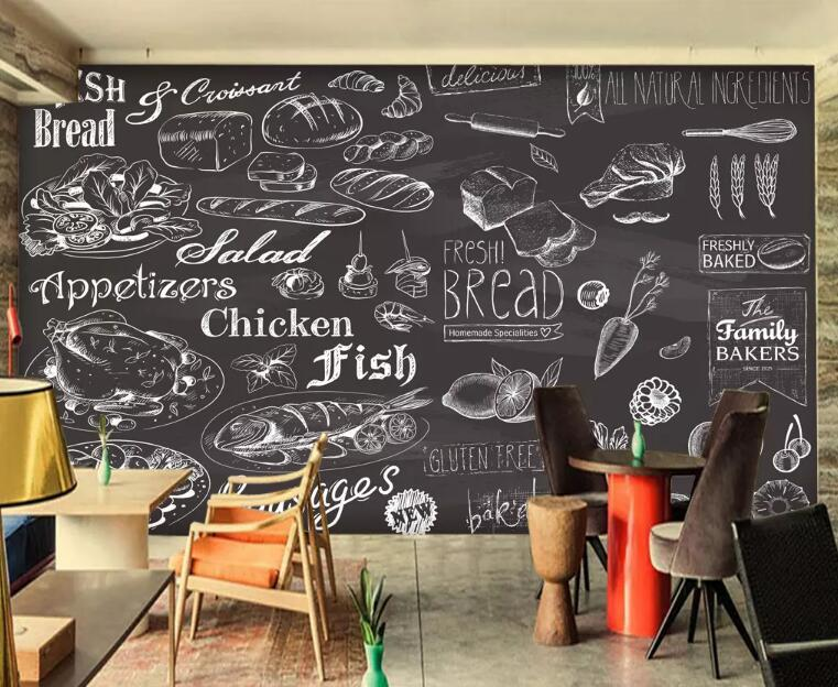 3D Burger 1331 Food Wall Murals