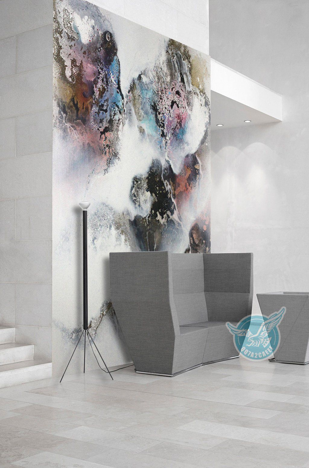 3D Painted Map 301 Wall Murals