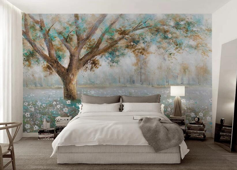 3D Painted Tree WC107 Wall Murals