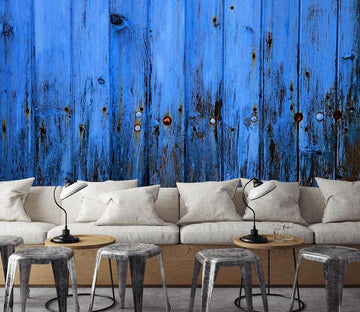 3D Blue Wood Patter 728 Wallpaper AJ Wallpaper