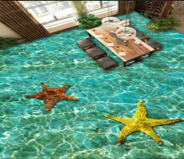 3D Starfish 357 Floor Mural Wallpaper AJ Wallpaper 2