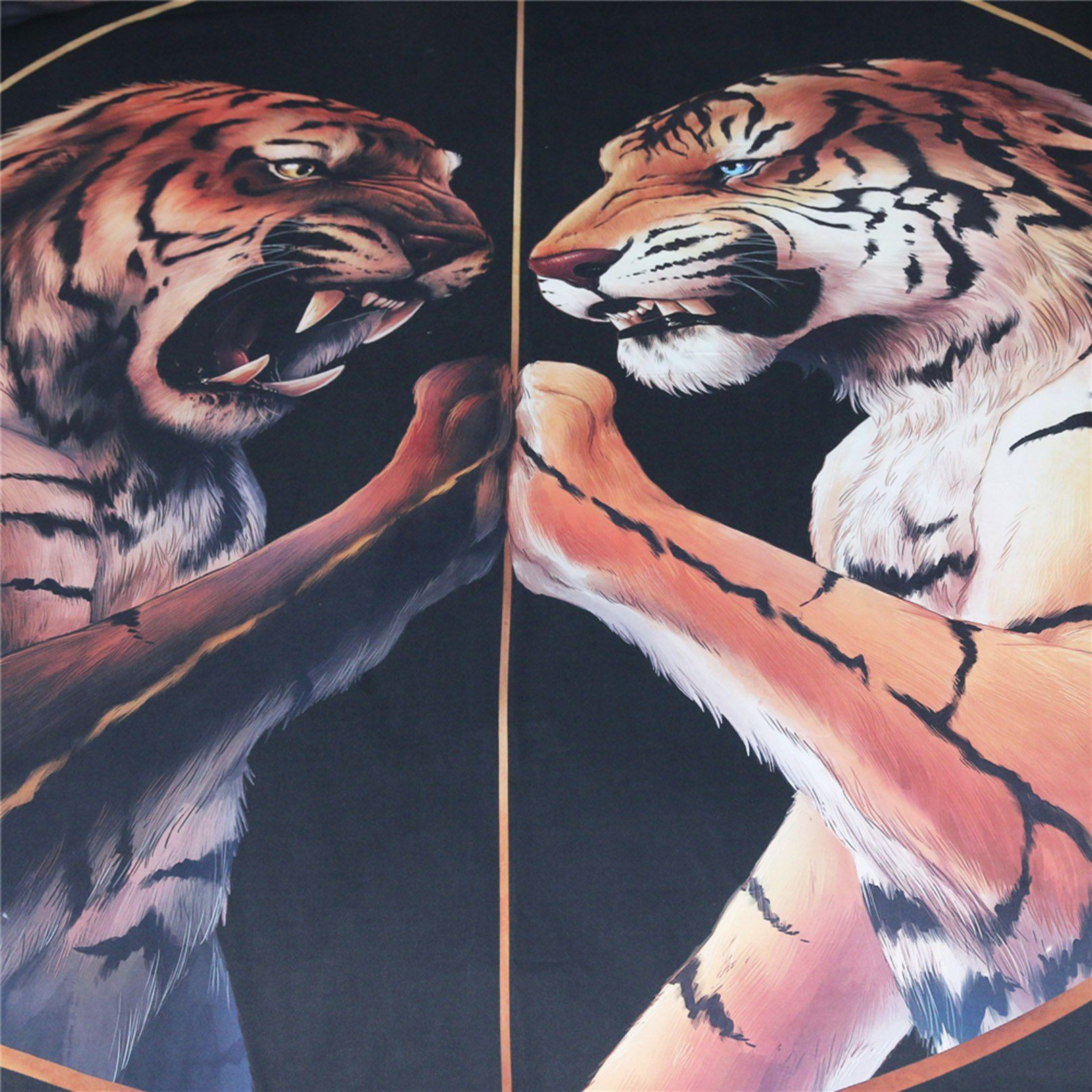 3D Black Peace Tiger 141 Bed Pillowcases Quilt Wallpaper AJ Wallpaper