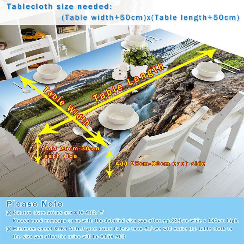 3D Beach Tide 653 Tablecloths