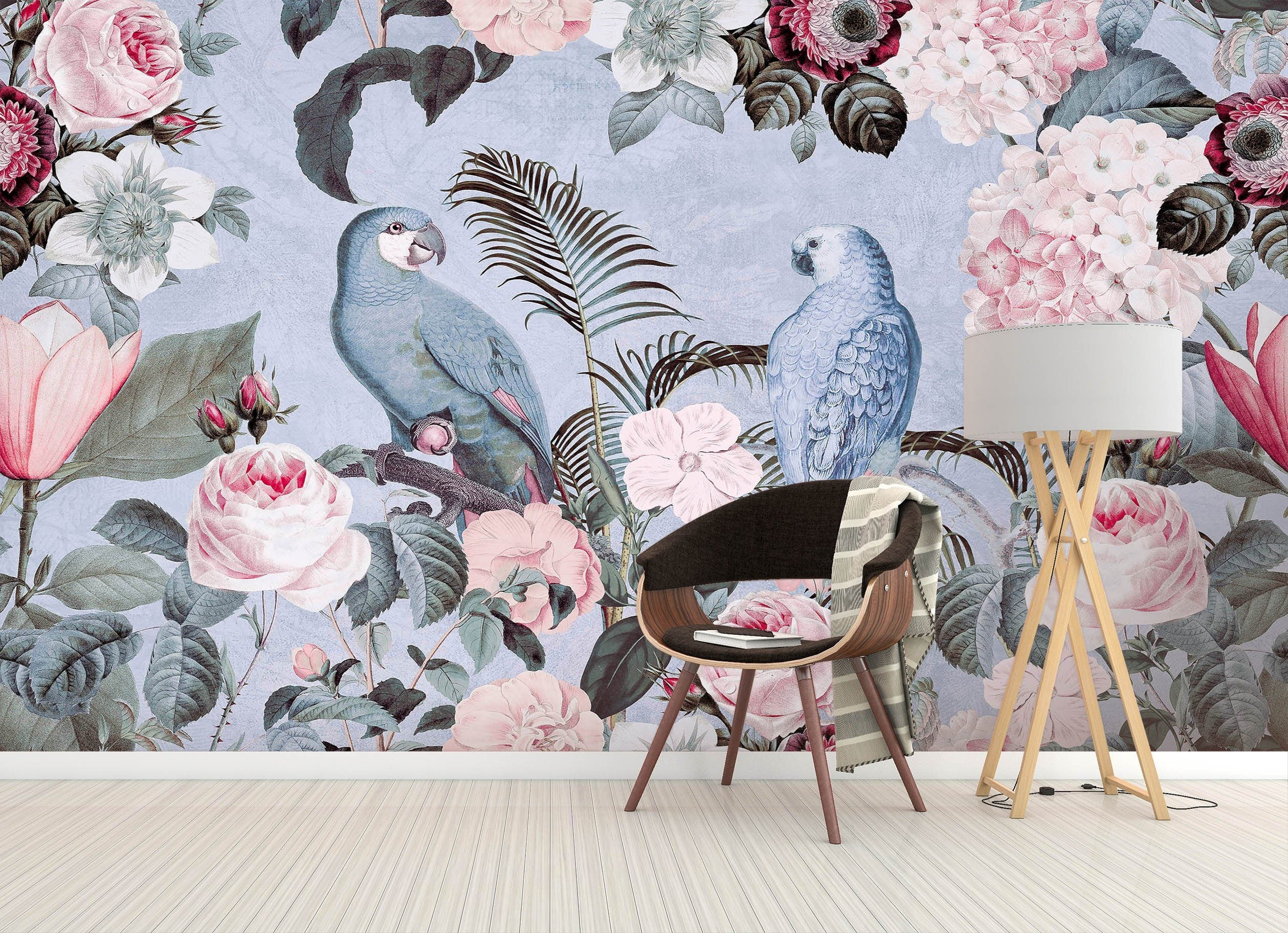 3D Bird Flowers 1421 Andrea haase Wall Mural Wall Murals Wallpaper AJ Wallpaper 2