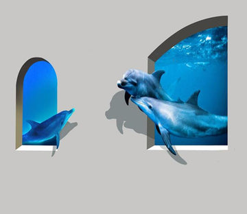 3D Blue Dolphins 36 Wallpaper AJ Wallpaper
