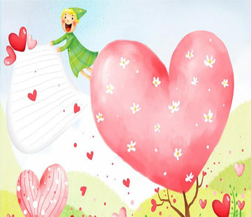 3D Pink Girl Heart Tree 042