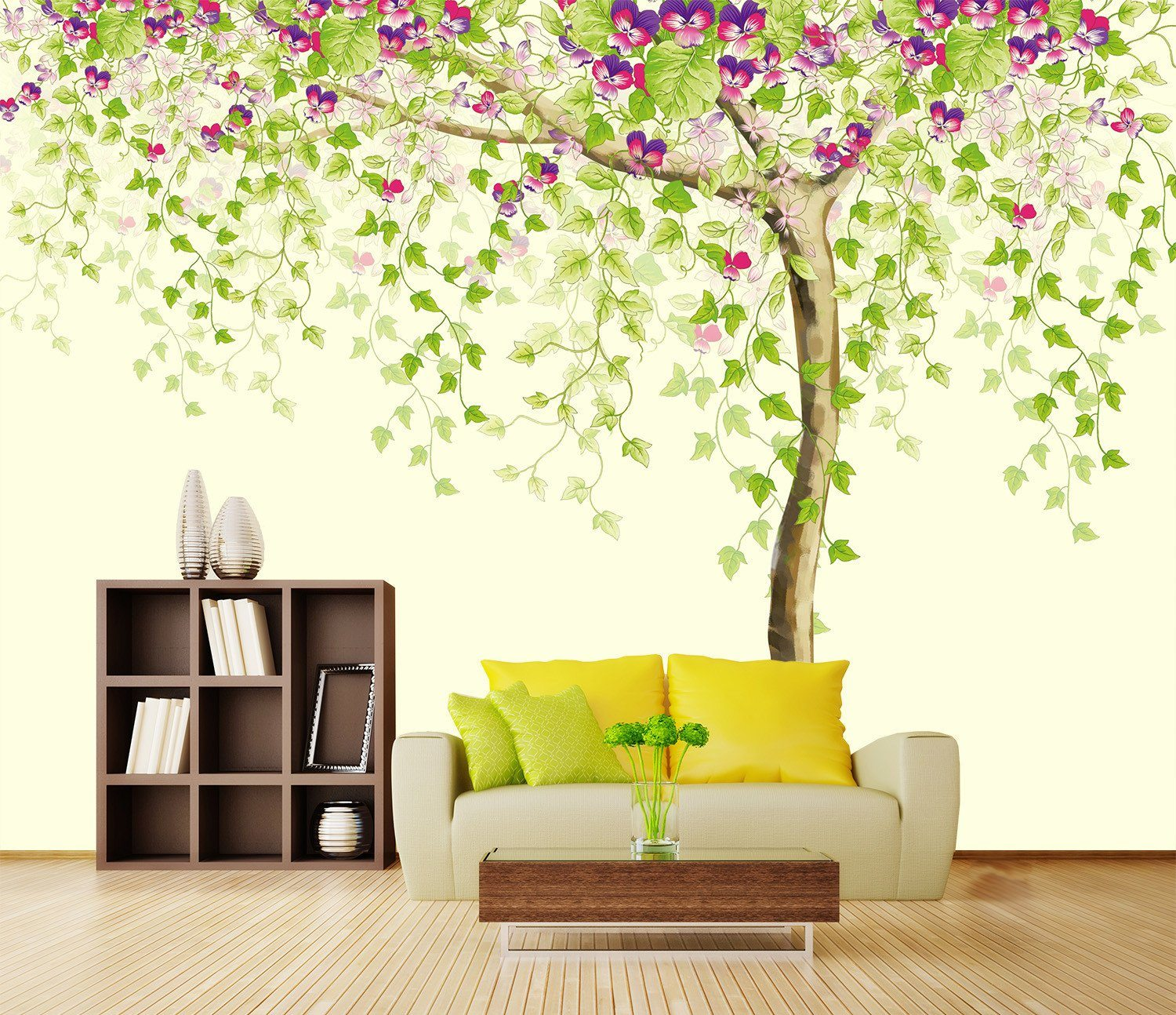 3D Blossoming Flower Tree 288 Wallpaper AJ Wallpaper 2