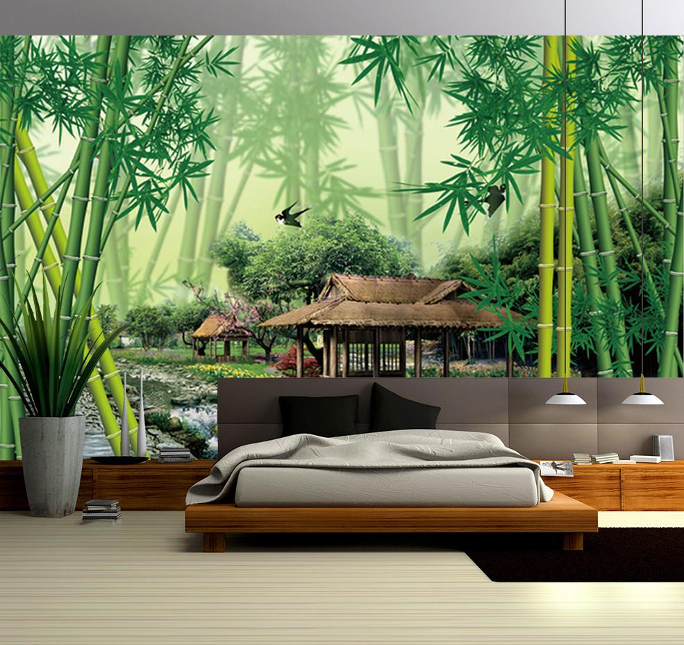 3D Bamboo Forest 109 Wallpaper AJ Wallpaper