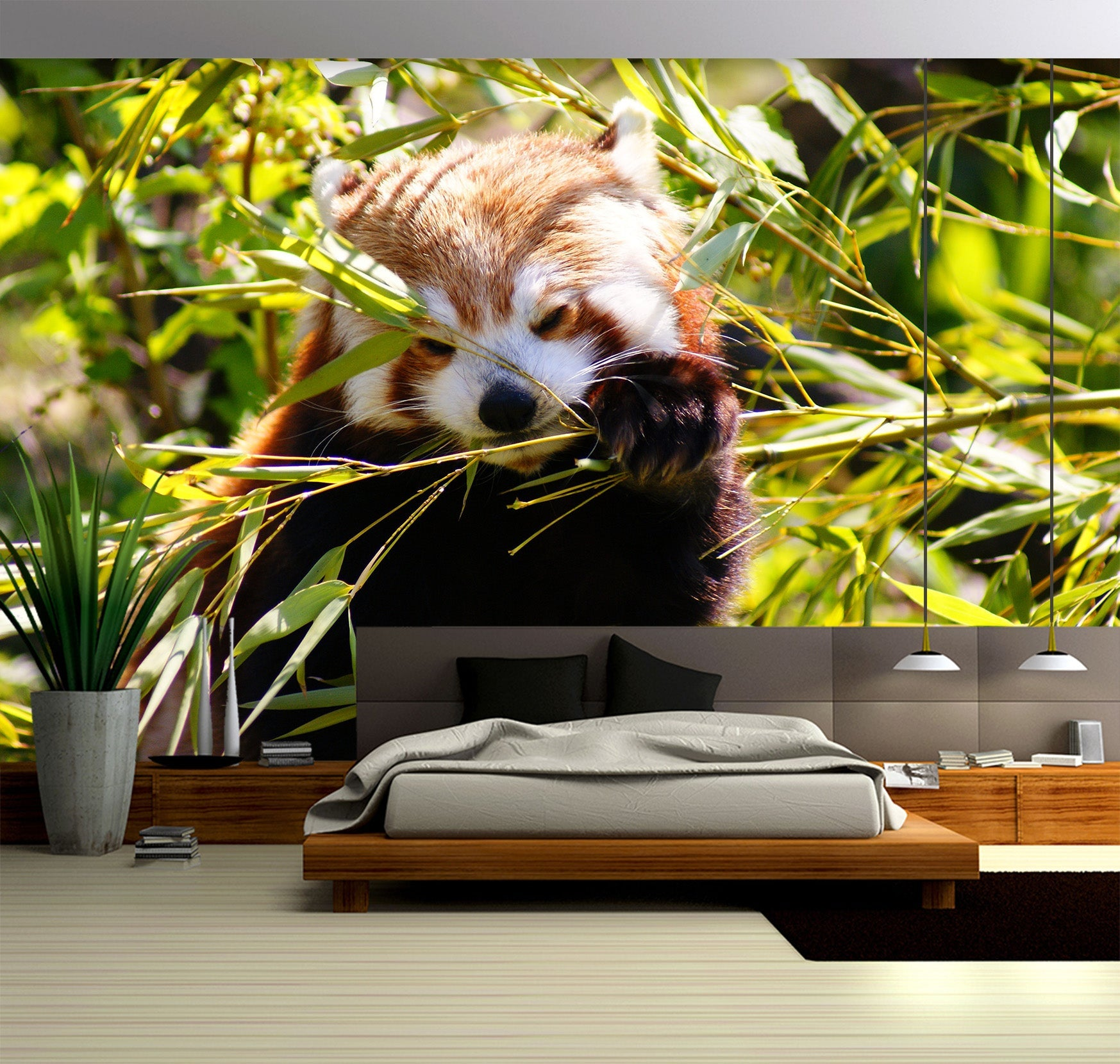 3D Little Panda 057 Wall Murals