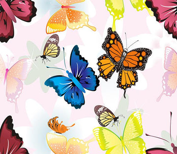 3D Color Butterflies 290 Wallpaper AJ Wallpaper